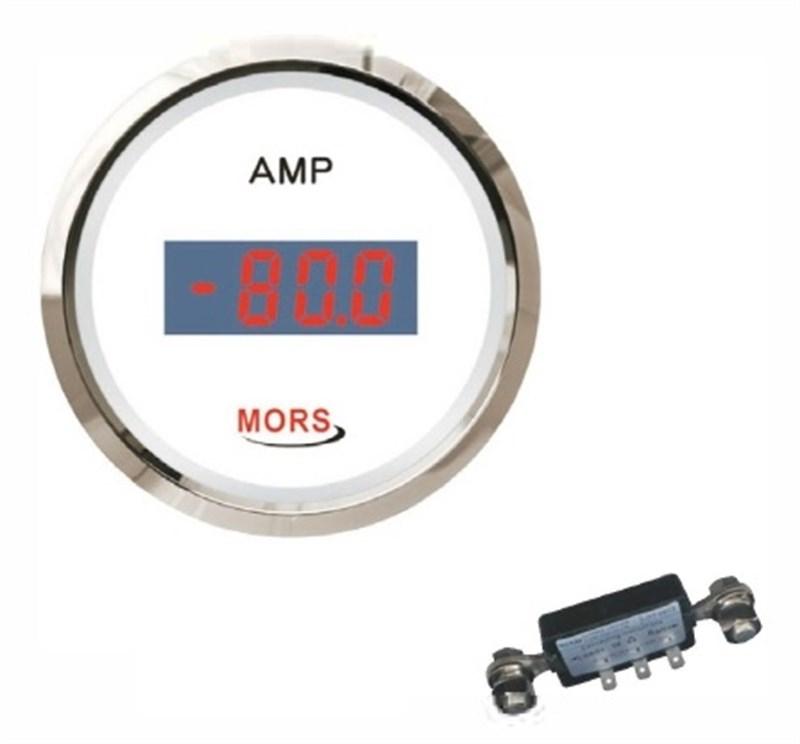 Mors Dijital Ampermetre 12-24V - Beyaz