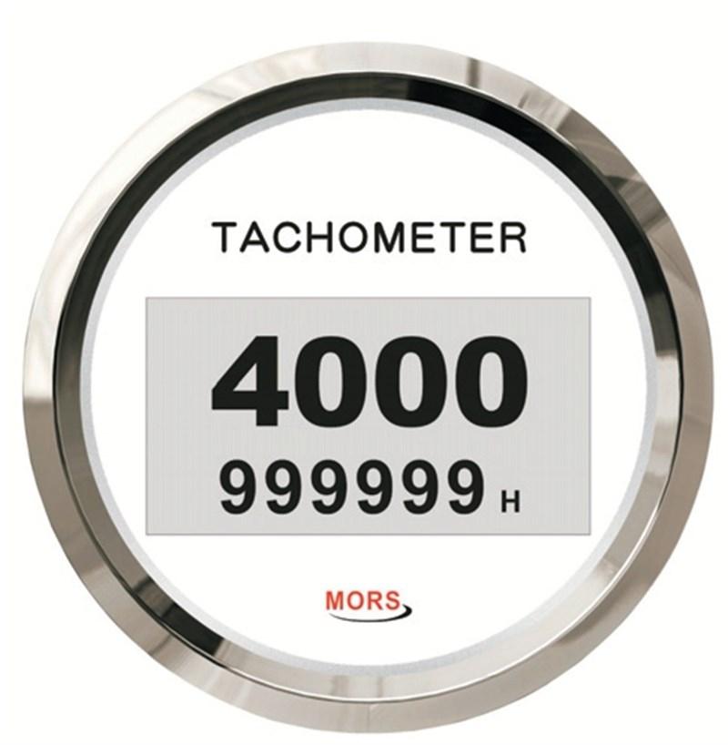Mors Dijital Devir Göstergesi 12-24V - 4000 Rpm. - Beyaz