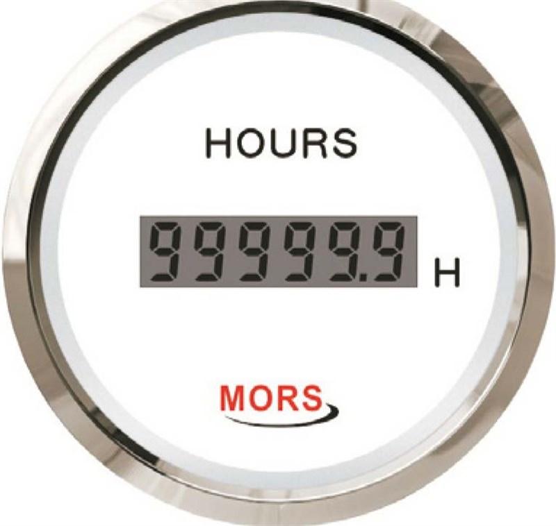 Mors Dijital Motor Zaman Saati 12-24V - Beyaz