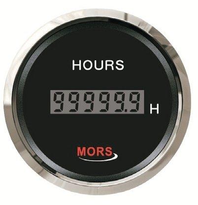 Mors Dijital Motor Zaman Saati 12-24V - Siyah