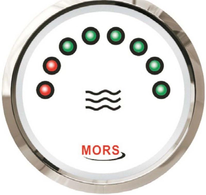 Mors Dijital Su Tankı Seviye Göstergesi 12-24V - 0/190 Ohm. - Beyaz