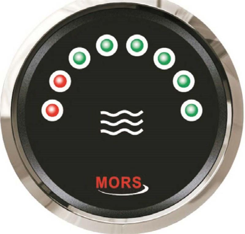 Mors Dijital Su Tankı Seviye Göstergesi 12-24V - 0/190 Ohm. - Siyah