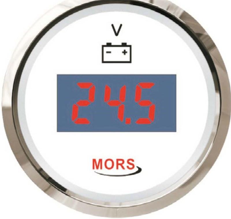 Mors Dijital Voltmetre 12-24V - Beyaz