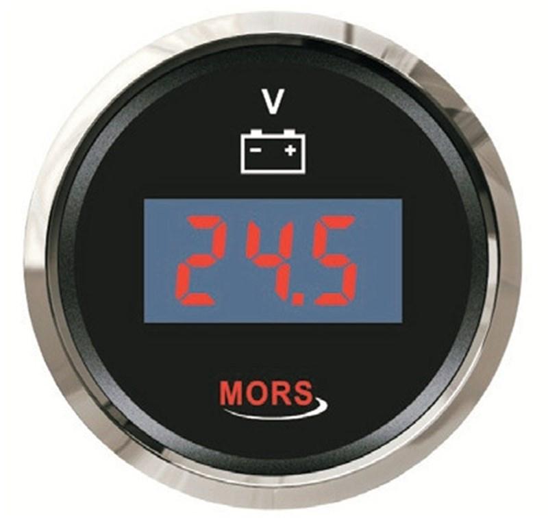 Mors Dijital Voltmetre 12-24V - Siyah
