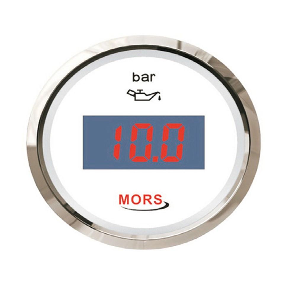 Mors Dijital Yağ Göstergesi 12-24V - 10 Bar - Beyaz