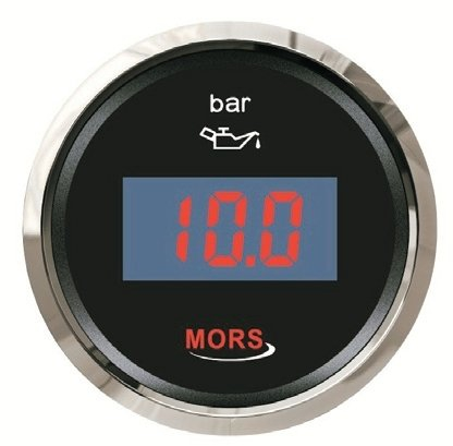 Mors Dijital Yağ Göstergesi 12-24V - 5 Bar - Siyah