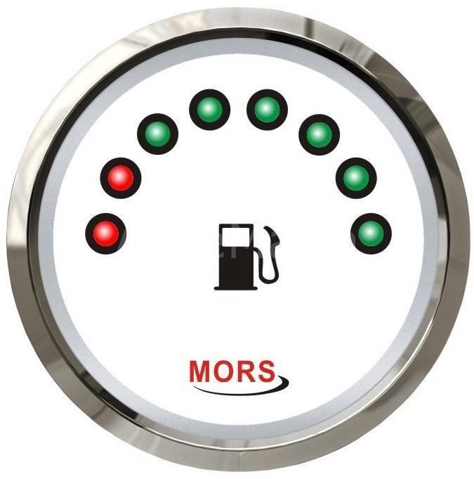 Mors Dijital Yakıt Göstergesi 12-24V -0/190 Ohm. - Beyaz