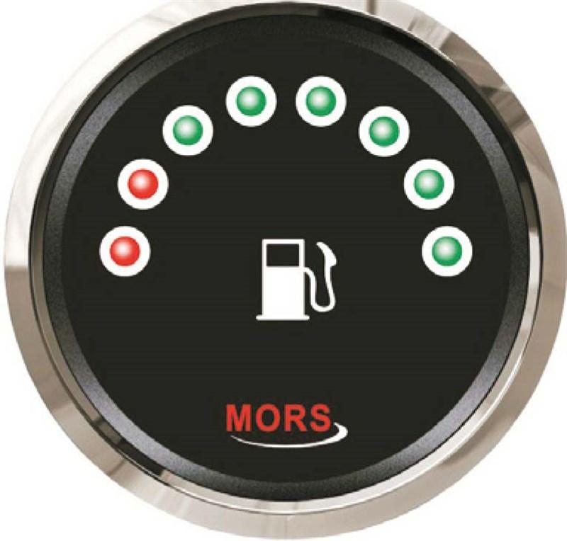 Mors Dijital Yakıt Göstergesi 12-24V -0/190 Ohm. - Siyah