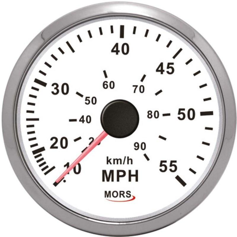 Mors Sürat Göstergesi 12-24V - 55 mph. - Beyaz