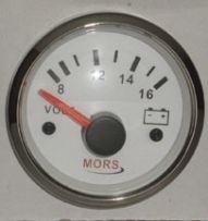 Mors Voltmetre 12V - Beyaz