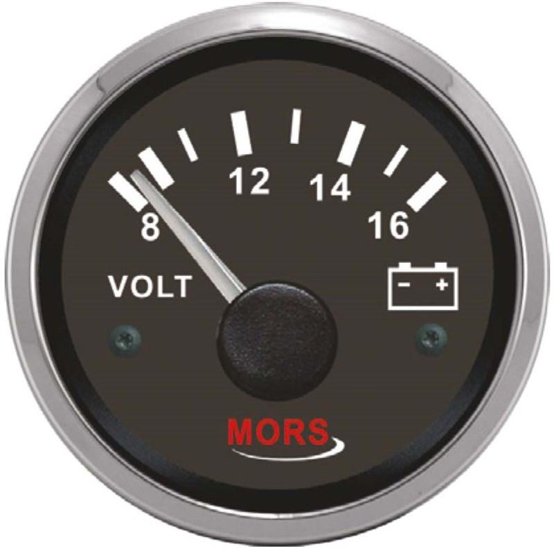 Mors Voltmetre 12V - Siyah
