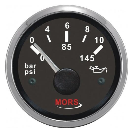 Mors Yağ Göstergesi 12-24V - 5 Bar - Siyah