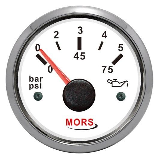 Mors Yağ Göstergesi 12-24V - Beyaz - 5 Bar