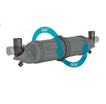 NLPH50 Vetus Waterlock/Muffer, 51 mm