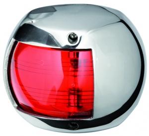 Osculati CLASSIC 12 Seyir Feneri AISI 316 Paslanmaz Çelik 12V - İskele - Kırmızı