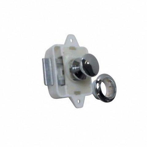 Osculati Mini Push-Lock Classic Kulplu Kilit - Sarı