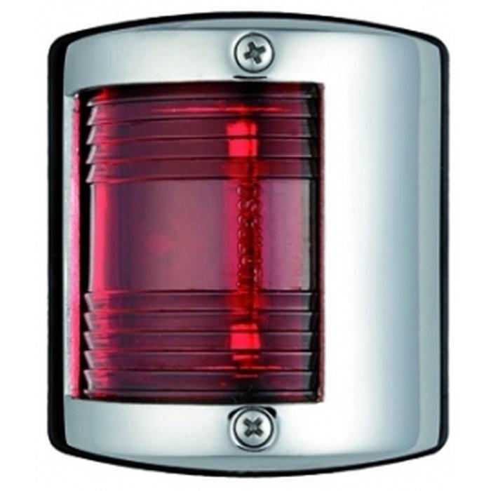 Osculati Utility 85 Seyir Feneri Paslanmaz Çelik 12V - İskele - Kırmızı