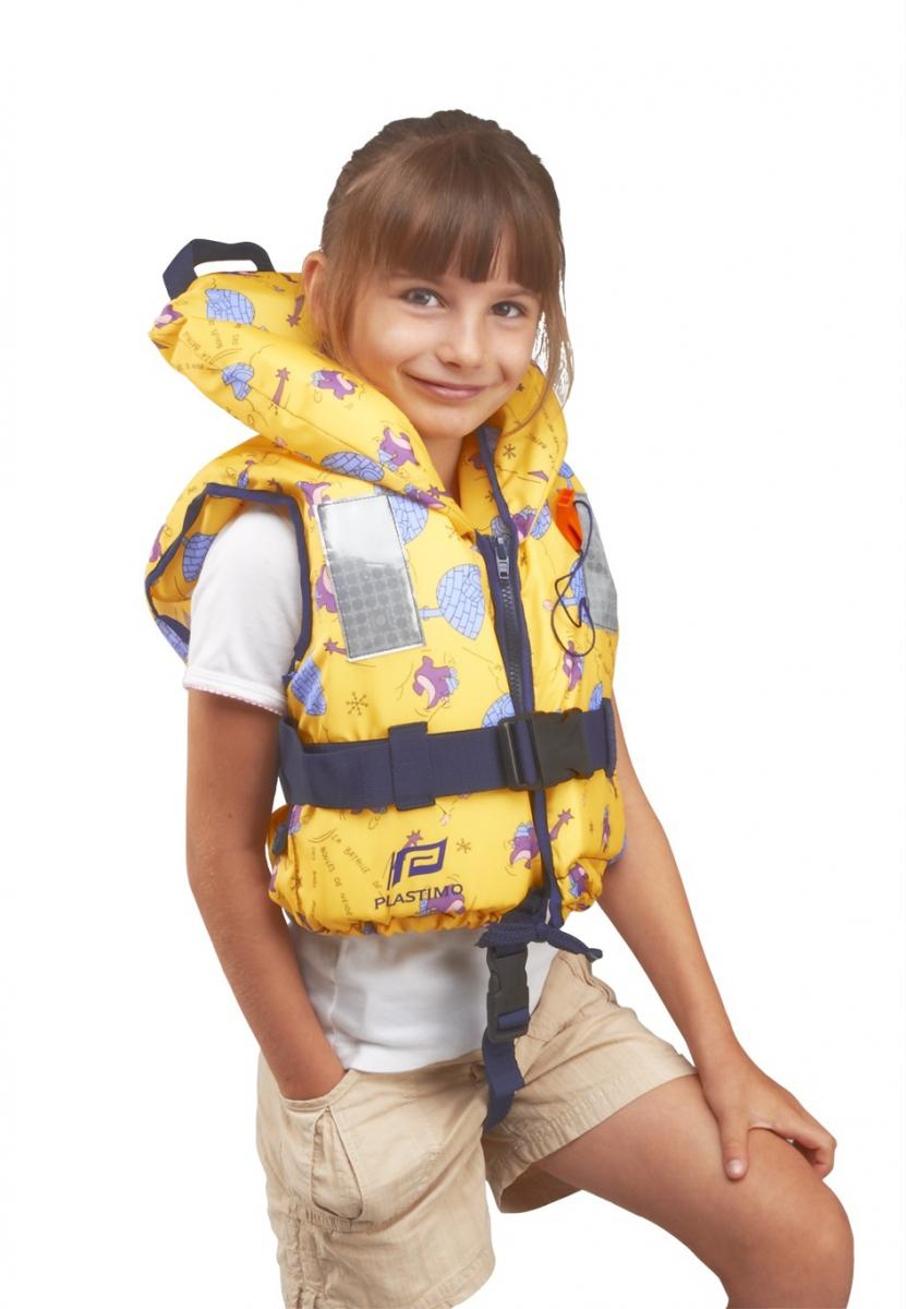 Plastimo Child 100N Çocuk Can Yeleği Igloo Desenli - Sarı - 3-10kg.