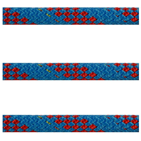 Polyropes Dyneemic Racer 2002 Iskota Halatı 6mm. Mavi-Kırmızı