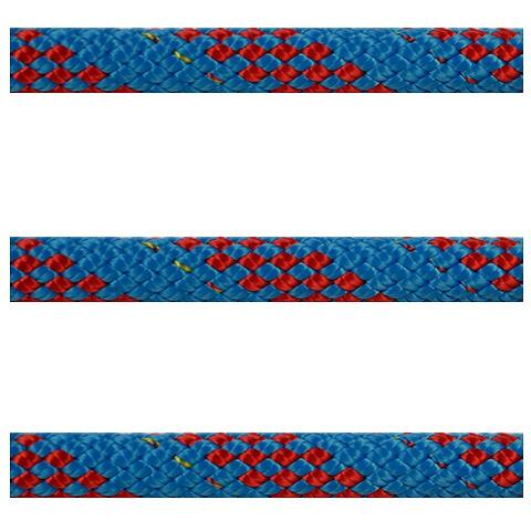 Polyropes Dyneemic Racer 2002 Iskota Halatı 8mm. Mavi-Kırmızı