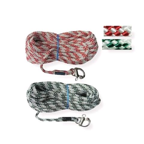 Polyropes IQLine Spinnaker Balon/Gennaker Iskota Halatı 12mm. Beyaz-Kırmızı - 27m. - Pelikan Kilitli