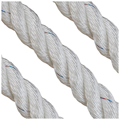 Polyropes Polsuperior 3 Kollu Polyester Bağlama Halatı 28mm. Beyaz