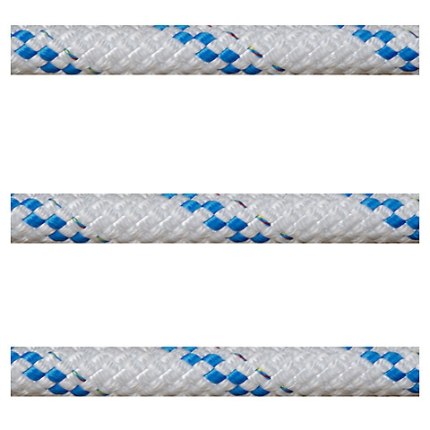 Polyropes Poly-Braid 32 Iskota Halatı 14mm. Beyaz-Mavi