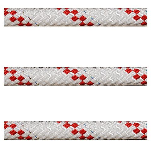 Polyropes Poly-Braid 32 Iskota Halatı 16mm. Beyaz-Kırmızı