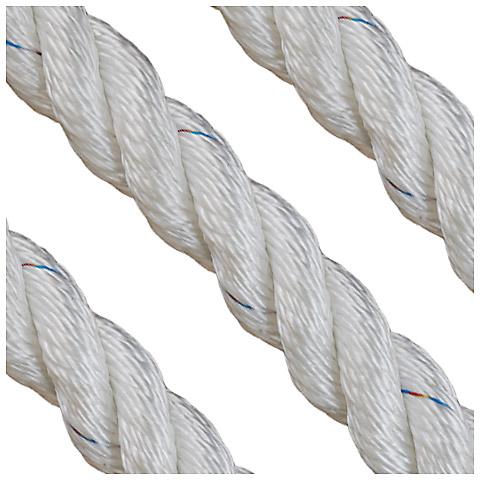 Polyropes Polsuperior 3 Kollu Polyester Bağlama Halatı 16mm. Beyaz
