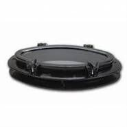 Seaflo Oval Lomboz 200x400mm. - Plastik - Siyah