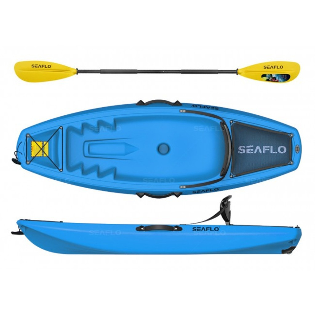 Seaflo Tek Kişilik Genç Kano - Mavi