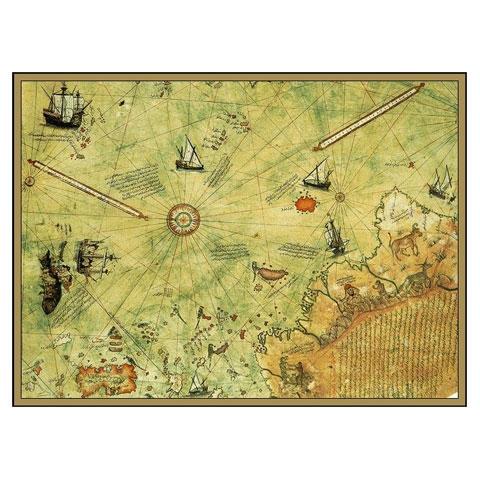 SHODB Piri Reis Haritası - Küçük