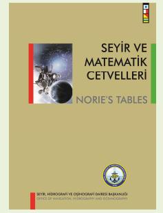 SHODB Seyir ve Matematik Cetvelleri - Norie's Tables
