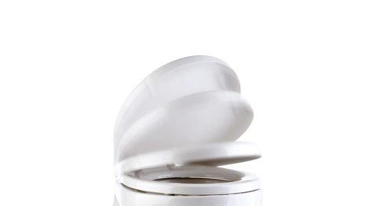 Tecma Silence Plus Plastik Yavaş Kapanır Tuvalet Kapağı - Beyaz