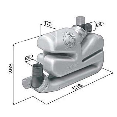 Vetus LSG75 Waterlock