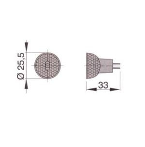 Vetus MR8 (GZ4) Halojen Ampul - 12V/20W