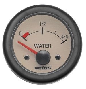 Vetus Su Tankı Seviye Göstergesi 12V -  Krem Kadranlı