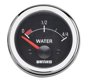 Vetus Su Tankı Seviye Göstergesi 12V -  Siyah Kadranlı