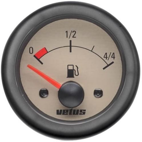 Vetus Yakıt Tankı Seviye Göstergesi 12V -  Krem Kadranlı
