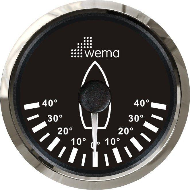 Wema Dümen Açı Göstergesi 52mm. - Siyah- Oval